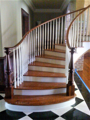 custom staircase in duson, lafayette, lake charles, and breaux bridge la